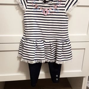Tommy Hilfiger 18 months girl set with leggings